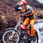 Martin Lampkin y su Bultaco del 73´ en el mundo del trial