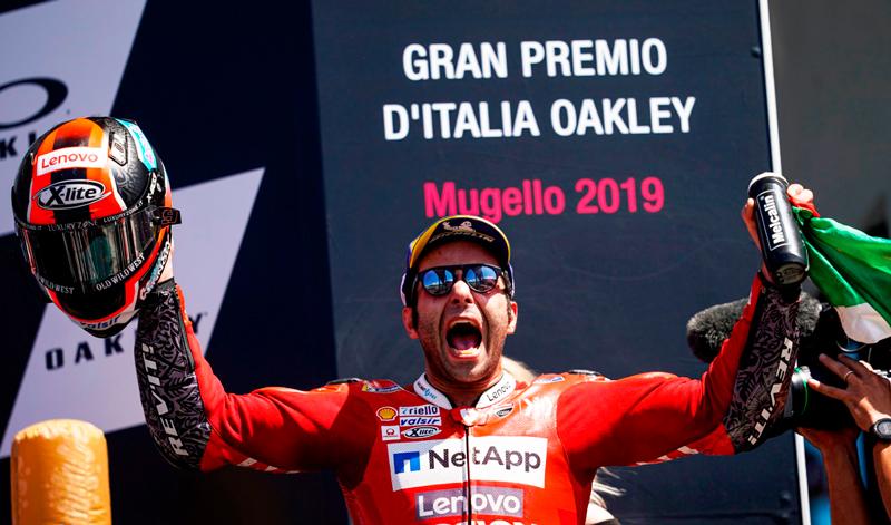 Increíble victoria de Danilo Petrucci en el Gran Premio de Italia