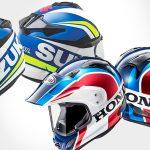 Honda y Suzuki plasmados en cascos Arai