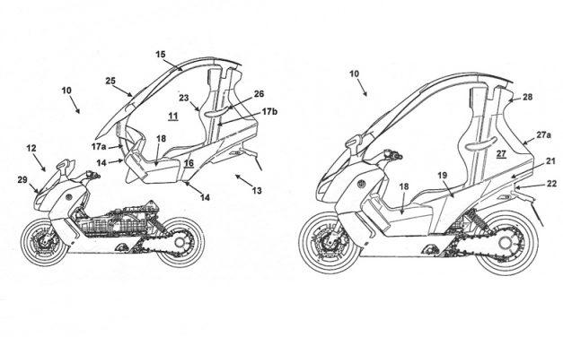 BMW ha patentado una nueva capota para sus scooters