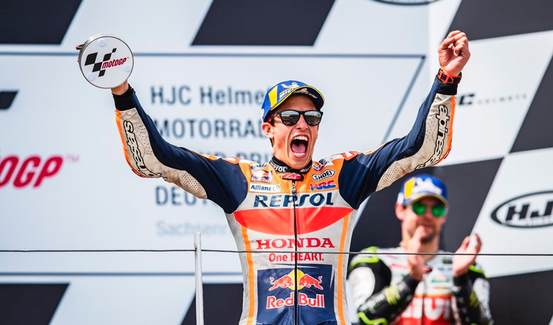 Imparable, Marc Márquez domina en Alemania