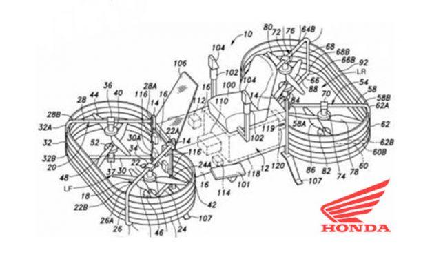 Honda hace una apuesta por el futuro ¡con una moto voladora!