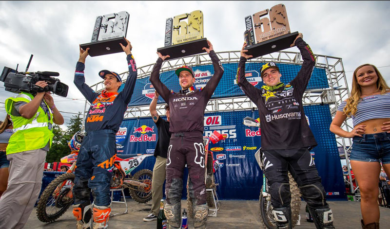 AMA Motocross 2019: Ken Roczen liderea el podio en Unadilla