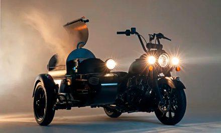 Indian Motorcycle y Traeger se unen para crear la motocicleta con parrilla rodante en el sidecar