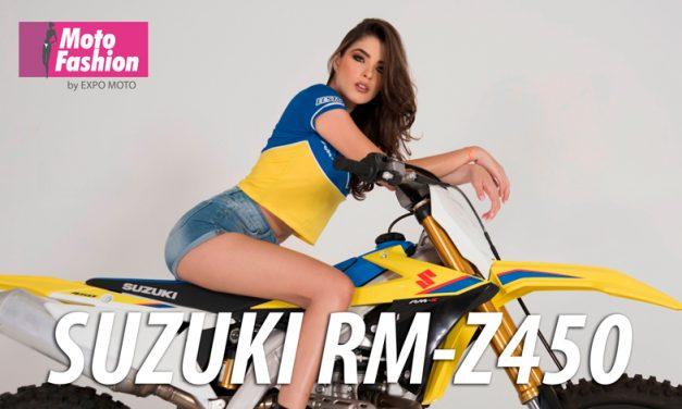 La belleza de Nathalia Vicente engalana a la Suzuki RM-Z450, moto ganadora en la categoría MX1 del Campeonato Nacional de Motocross 2019