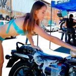 Motociclo presente en la Gran inauguración de Bajaj Zaragoza