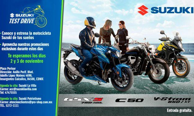 Desafía tus habilidades en el Test Drive Suzuki