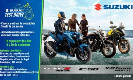 ¡Suzuki Motos lleva su Test Drive a Guadalajara!