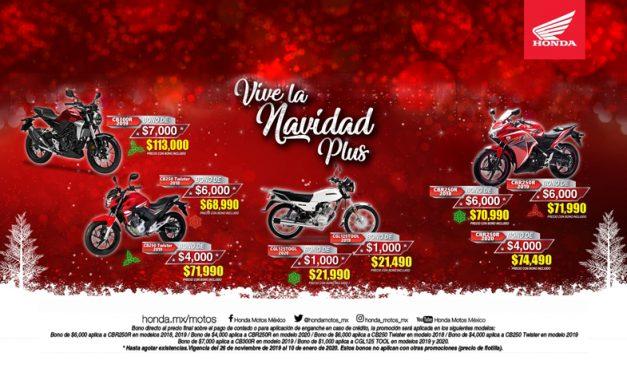 Vive la navidad con HONDA Motos México