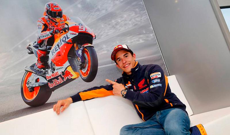 Marc Márquez renueva contrato con Honda