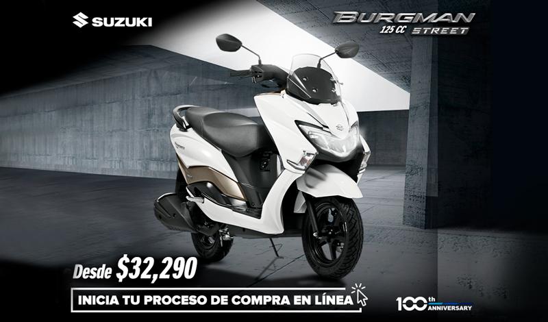 Suzuki tiene la moto perfecta para ti y tus traslados de corta distancia, Burgman Street 125cc 2020