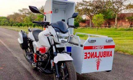 Hero Xtreme 200R, la moto-ambulancia
