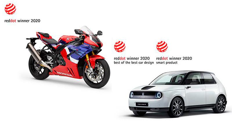 Honda e y CBR1000RR-R FIREBLADE obtienen premios de diseño en el Red Dot Award