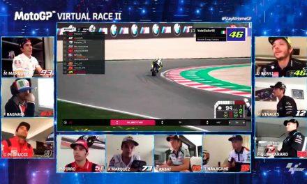 Pecco Bagnaia, ganador de la segunda carrera virtual de MOTOGP