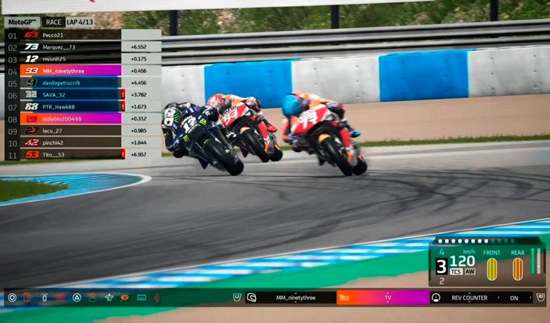 Maverick Viñales ganador de la tercera carrera virtual de MotoGP
