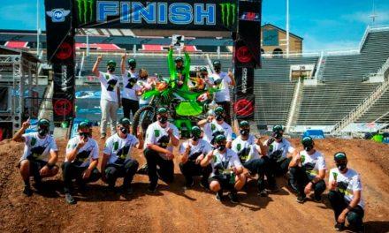 Eli Tomac  y Kawasaki ganadores del AMA Supercross 2020