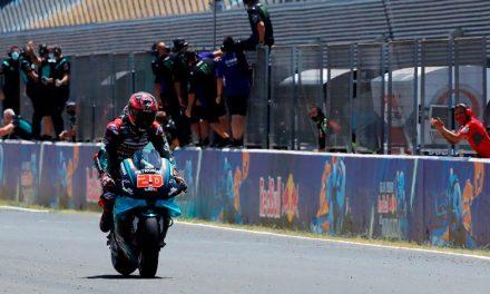 Fabio Quartararo de nueva cuenta en lo más alto del podio