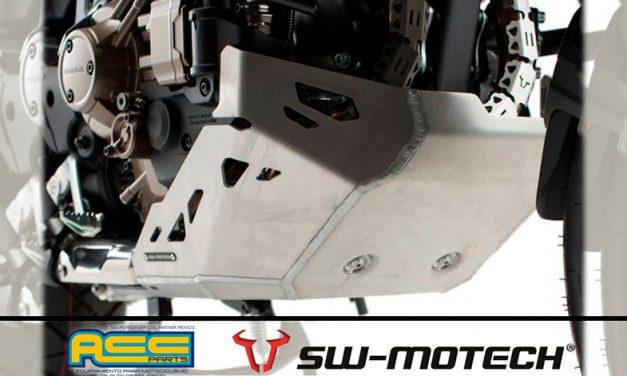 Casco de acero SW-MOTECH,  el skid plate  de aluminio para el motor de la Honda Africa Twin CRF1000L