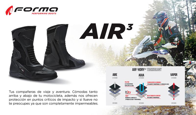 Tus compañeras de viaje y aventura, Botas FORMA Air3
