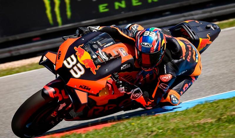 Brad Binder, ganador de la tercera carrera de MotoGP