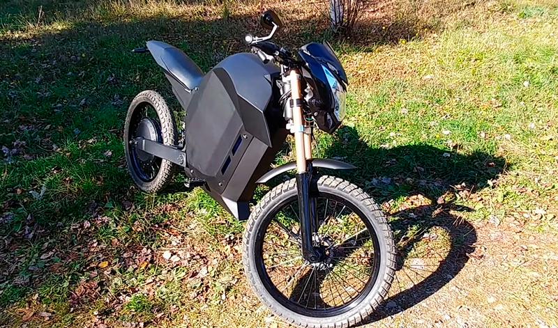 Una moto eléctrica hecha en casa