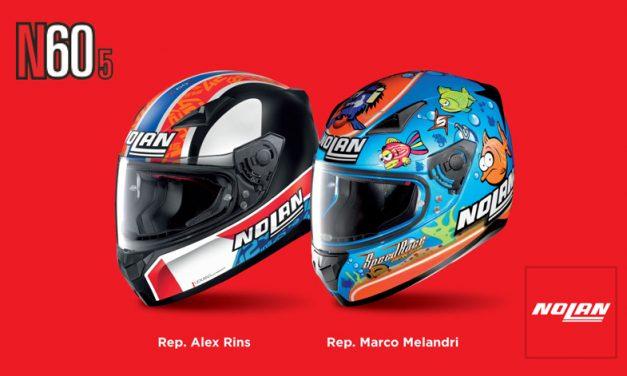 Casco N60-5 con réplicas de Álex Rins y Marco Melandri