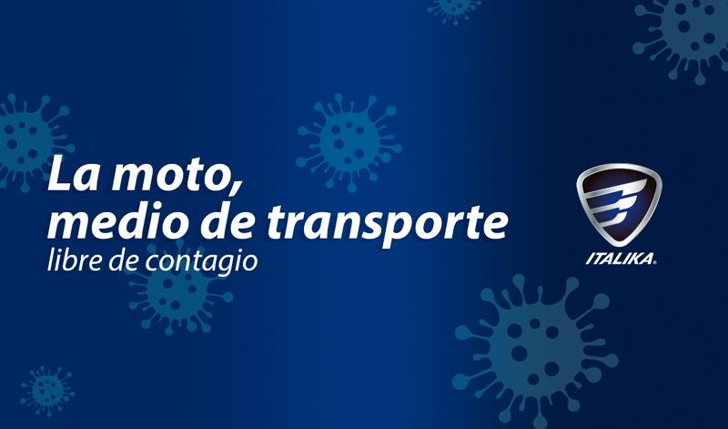 La moto, medio de transporte libre de contagio