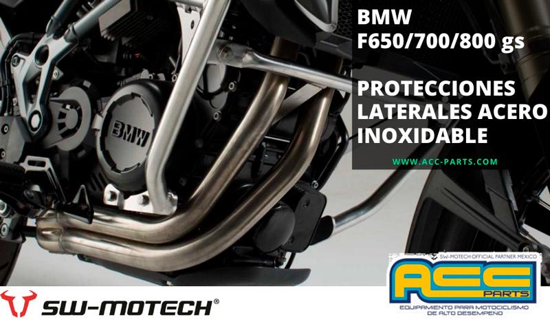 Las protecciones laterales de  motor de SW-MOTECH aportan ese extra de seguridad para tu moto