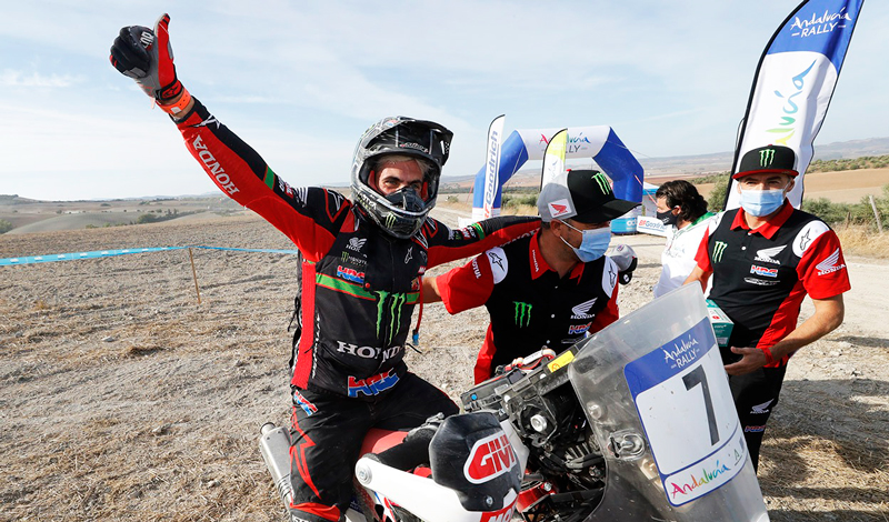 Kevin Benavides, ganador del Andalucía Rally