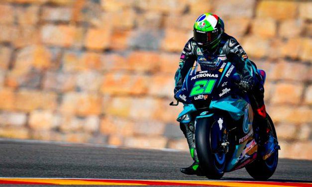Franco Morbidelli, en lo más alto del podio en el Campeonato Mundial de MotoGP Teruel