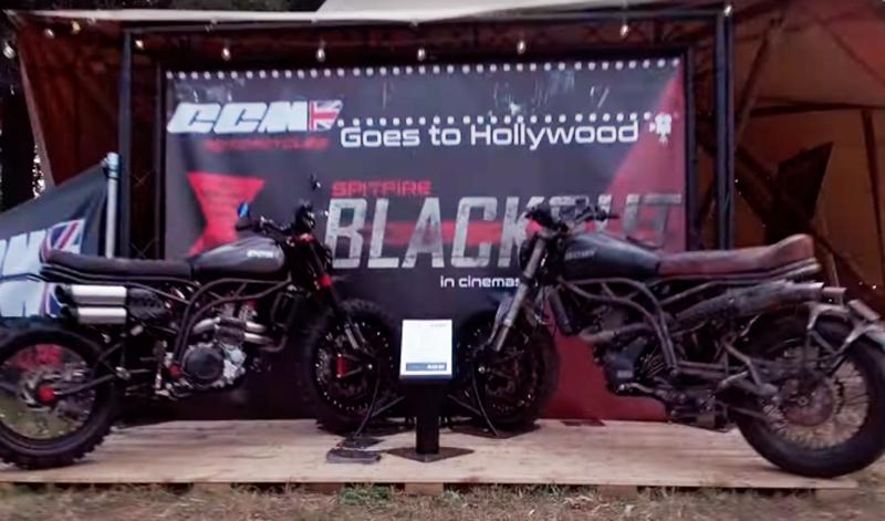 La Viuda Negra llegará rodando en una CCM Spitfire Blackout Edition