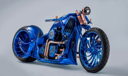La motocicleta de dos millones de dólares: Harley Davidson Blue Edition