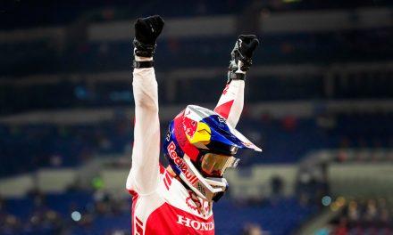 Ken Roczen, ganador de la última carrera en Indianápolis