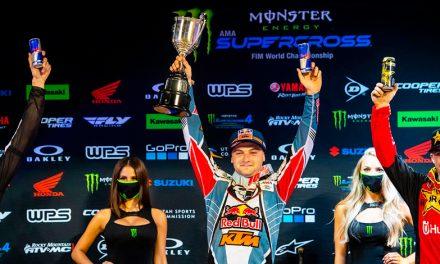 Cooper Webb, en lo más alto del podio en AMA SX