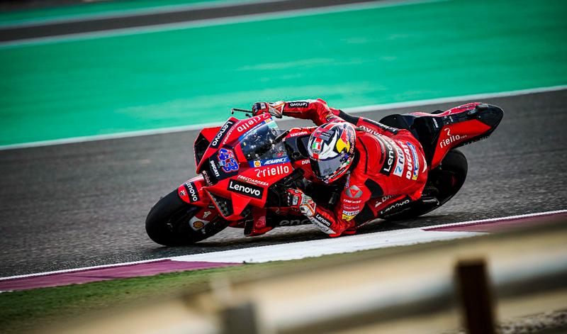 Finalizan los test oficiales de MotoGP en Qatar para los pilotos del Ducati Lenovo Team