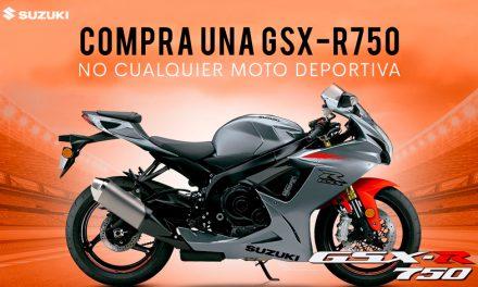 GSX-R750 te ofrece una experiencia deportiva inigualable