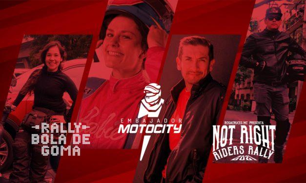 Embajadores MOTOCITY participarán en los Rallys del fin de semana