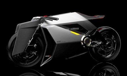 Aether, una moto eléctrica que purifica el aire mientras circula