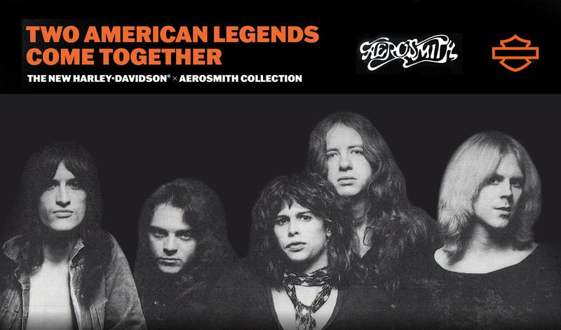 HARLEY-DAVIDSON® se asocia con la legendaria banda Aerosmith y lanza una línea de ropa edición limitada.