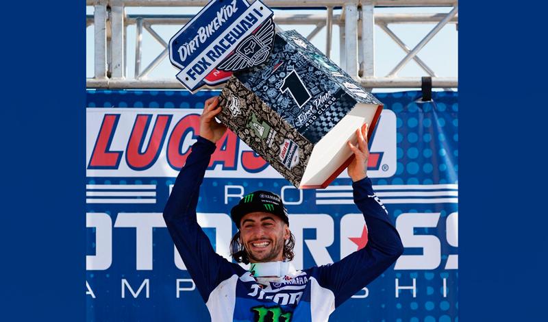 Dylan Ferrandis, del Monster Energy Star Yamaha Racing, consigue su primera victoria en AMA Motocross 450