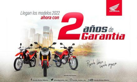 Honda extiende periodo de garantía para motocicletas, a partir de modelos 2022