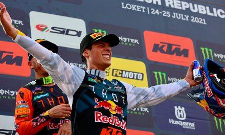 Jorge Prado consigue su primera victoria de la temporada en MXGP