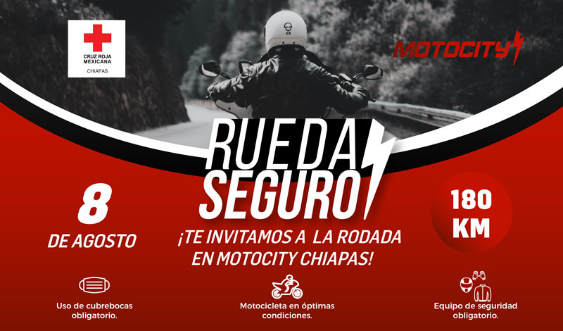 Sé parte de la rodada de Motocity Chiapas