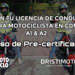 Conseguir la licencia de motociclista es muy fácil