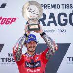 Extraordinaria victoria de Pecco Bagnaia, que logra su primer triunfo en MotoGP